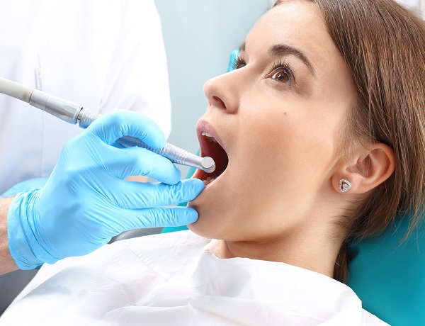 woman during root canal procedure